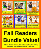 Fall Emergent Readers {VALUE BUNDLE} for September & Octob