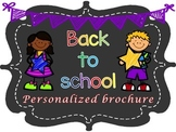 Back To School or Open House Personalized Brochure