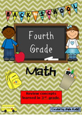 Back to School 4th Grade Math