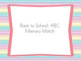 Back to School: ABC Memory