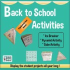 Back to School Activities - Grades 2-5