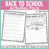 Back to School Activities Pack {Fun Activities for the Fir