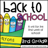 Terrific Third Grade Fun-  Fun for the First Week of School