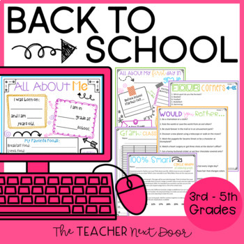 Back to School Activities for Fifth Grade