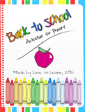 Back to School - Activities for K-2 (Primary)
