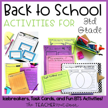Back to School Activities for Third Grade