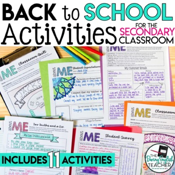 Back to School Activities for the Secondary Student