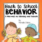 Back to School Behavior: Beginning of the Year Activities