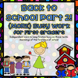 Back to School Busy Work Part 2