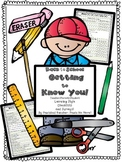 Back to School Checklists and Surveys: Getting to Know You!