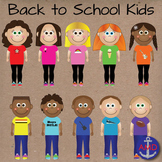 Back to School Clip Art Kids-Classroom of 20 Students in G