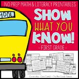 Back to School First Grade Printables {No Prep} - Show Wha
