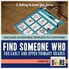 Find Someone Who: A Getting to Know You Game