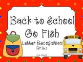 Back to School Go Fish Letter Recognition