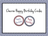 Back to School Happy Birthday Circles