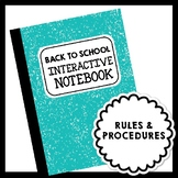 Back to School Interactive Notebook Foldables for Rules, P