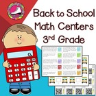 Back to School Math Centers 3rd Grade - Reviews 2nd Grade