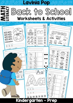 Back to School Math & Literacy Worksheets and Activities No Prep