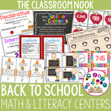 Back to School Math and Literacy Centers for Older Students
