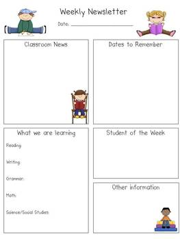 Back to School Newsletter 1