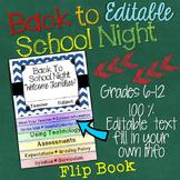 Back to School Night: Editable Interactive Layered Flip Book