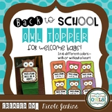 Back to School OWL Bag Topper