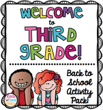 Back to School Packet: Welcome to 3rd Grade [NO PREP]