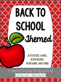 Back to School Packet for Speech and Language Therapy