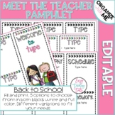 Back to School Pamphlet {editable}