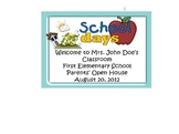 Back to School Parent Night Power Point Butterfly & Insect