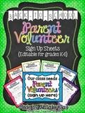 Back to School - Parent Volunteer - Sign Up Forms