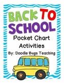 Back to School Pocket Chart Activities for 1st Grade/Kindergarten