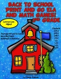 Back to School Print and Go ELA and Math Games Common Core