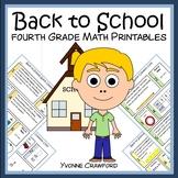 Back to School Quick Common Core (4th grade)