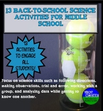 Back to School Science Activities for Middle School