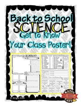 Back to School Science Get to Know Your Class Poster
