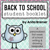 Back to School Student Booklet