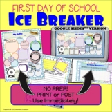 First Day : Back to School : Student Information : Ice Bre