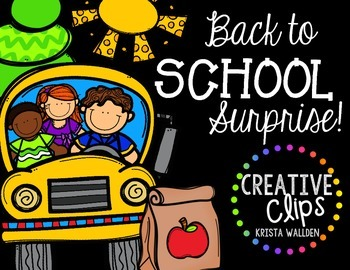 Back to School Surprise Creative Clips Digital Clipart
