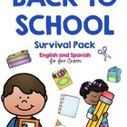 Back to School Survival Pack for First Graders *English an