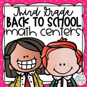 Back to School Third Grade Math Centers