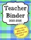 Back to School Ultimate Teacher Binder