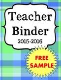 Back to School Ultimate Teacher Binder Sample FREEBIE