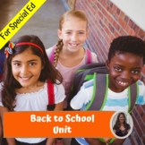 Back to School Unit