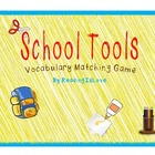Back-to-School Vocabulary Matching and ABC Order Game