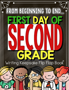 Back to School and End of the Year Flip Flap Book 2nd Grade