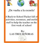 Back to School for the Spanish Classroom Packet