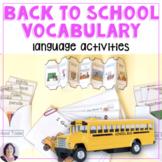 Back to School:school vocabulary,books,more  for special e