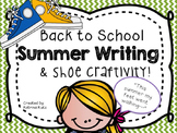 "Back to school writing and craft: ""This summer my feet wen"