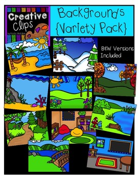 Backgrounds Variety Pack {Creative Clips Digital Clipart}